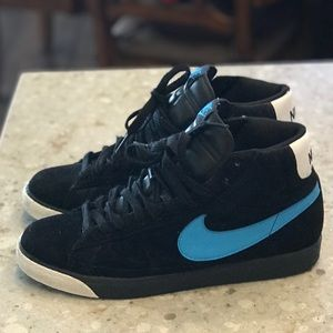 🔥Nike Blazet High Black vivid blue White sz-12
